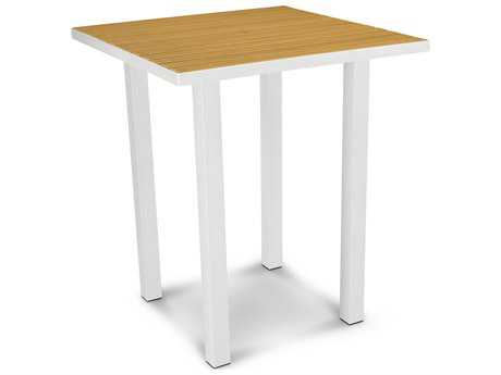 POLYWOOD® Euro Plastique 36 Square Bar Table