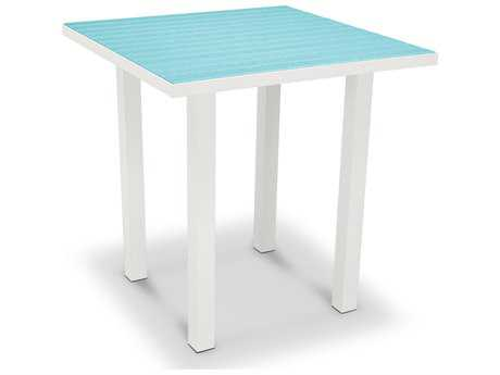 POLYWOOD® Euro Recycled Plastic 36''Wide Square Counter Height Table