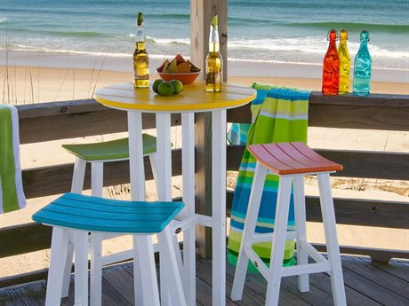POLYWOOD® Bar Stool Recycled Plastic Bar Set