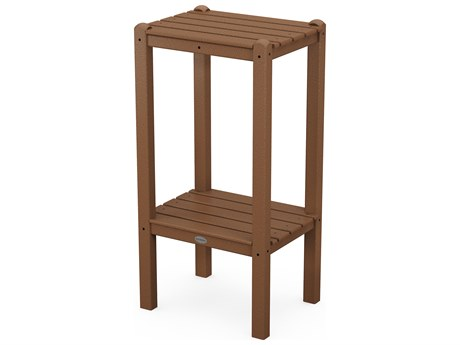 POLYWOOD® Traditional Recycled Plastic 18.5''W x 14''D Rectangular Tall End Table PatioLiving