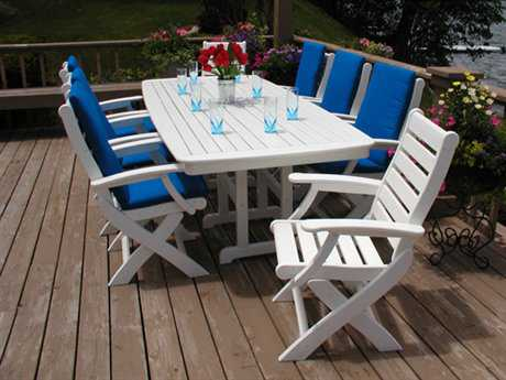 POLYWOOD® Captain Folding Chair Dining Set