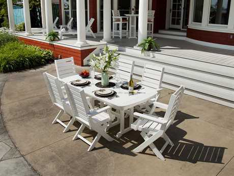 POLYWOOD® Captain Recycled Plastic Dining Set