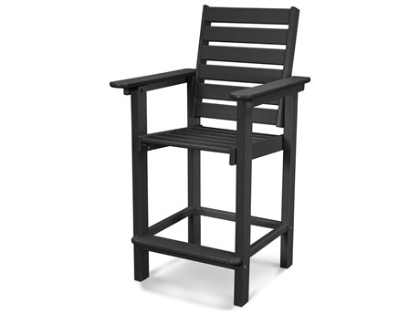 POLYWOOD® Captain Recycled Plastic Counter Chair PatioLiving