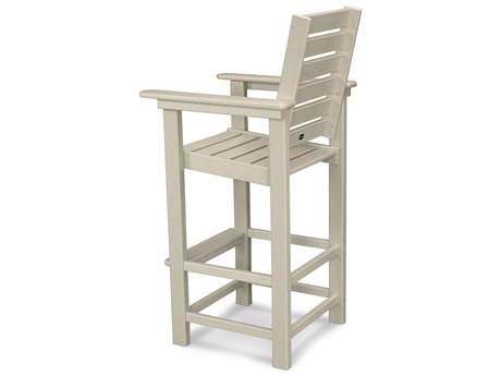 POLYWOOD® Captain Recycled Plastic Bar Chair