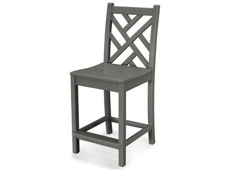 POLYWOOD® Chippendale Recycled Plastic Side Counter Stool