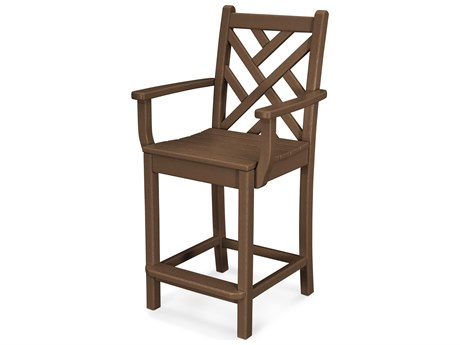 POLYWOOD® Chippendale Recycled Plastic Counter Stool PWCDD201