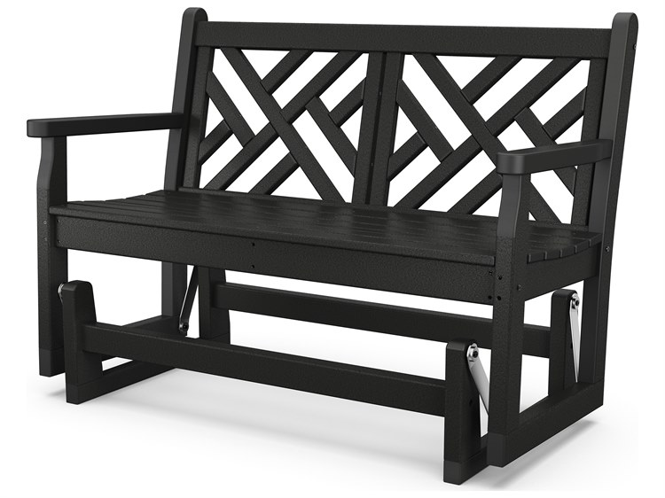 POLYWOOD® Chippendale Recycled Plastic Glider Loveseat