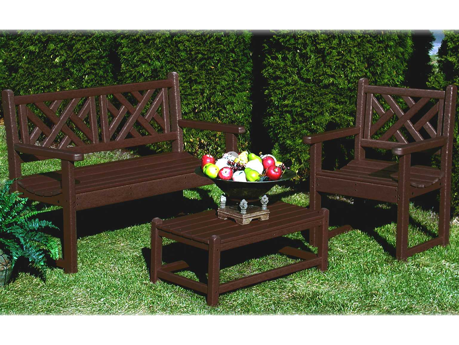 Polywood 174 Chippendale Recycled Plastic Bench Pwcdb48