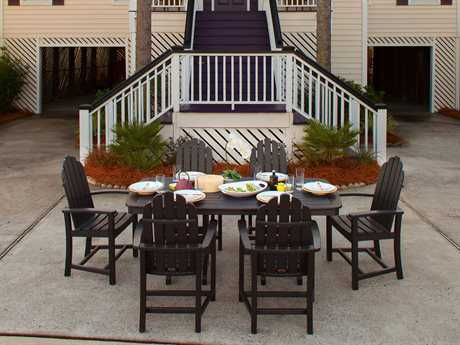 POLYWOOD® Classic Adirondack Recycled Plastic Dining Set