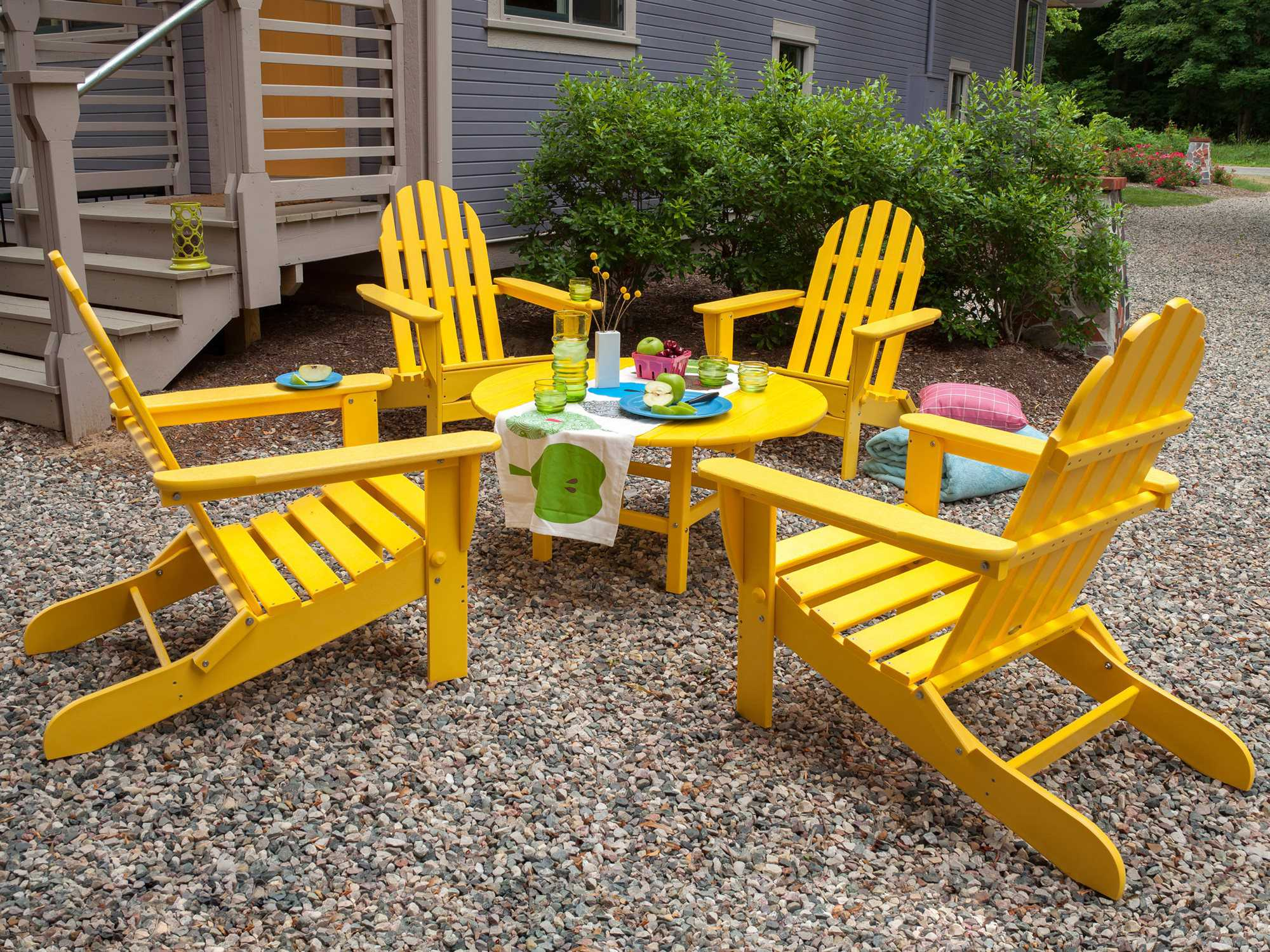Polywood 174 Classic Adirondack Recycled Plastic Chair Ad5030