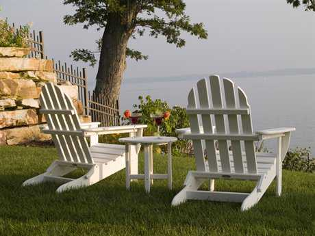 POLYWOOD® Classic Adirondack Poolside Lounge Chair Set with Side Table