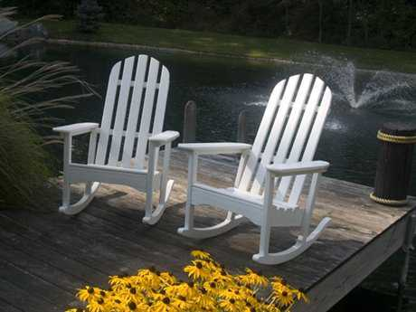 POLYWOOD® Classic Adirondack Recycled Plastic Rocking Chair Set