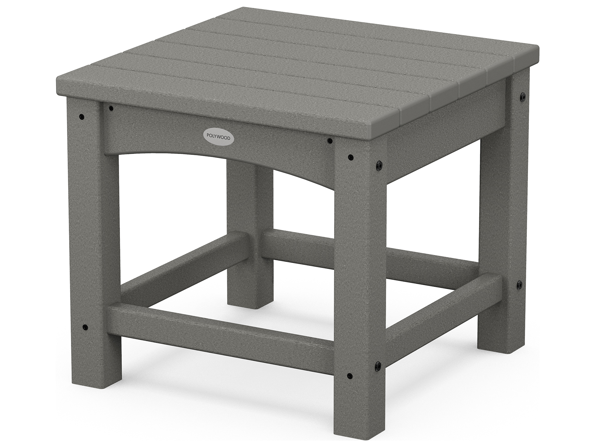 Polywood traditional recycled plastic 18 square end table for Pvc patio table