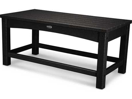 POLYWOOD® Traditional Recycled Plastic 35''W x 18''D Rectangular Coffee Table PatioLiving