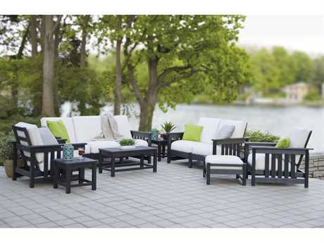 POLYWOOD® Mission Recycled Plastic Deep Seating Club Lounge Set PWCLUBMLNGESET