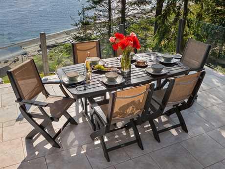 Polywood 174 Coastal Recycled Plastic Folding Chair Pw9000