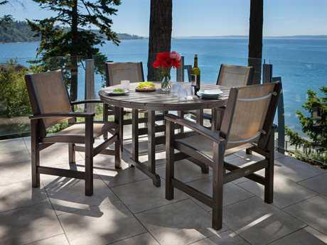 POLYWOOD® Coastal Sling Recycled Plastic Dining Set