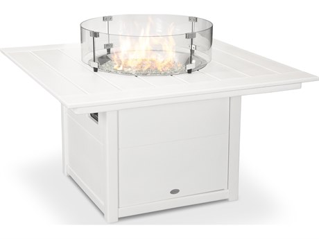 POLYWOOD® Recycled Plastic 42''Wide Square Fire Pit Table