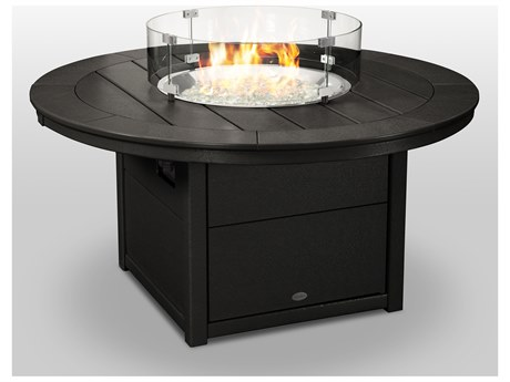 POLYWOOD® Recycled Plastic 48''Wide Round Fire Pit Table
