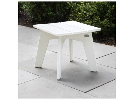 POLYWOOD® Riviera Modern Recycled Plastic 16.5''Wide Square Side Table