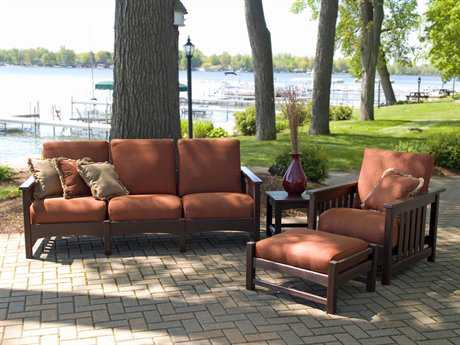 POLYWOOD® Mission Recycled Plastic Deep Seating Club Lounge Set PWDPCLBMLSF