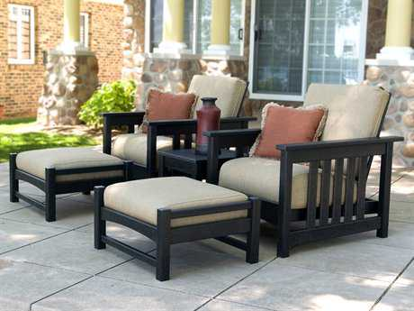 POLYWOOD® Mission Recycled Plastic Deep Seating Club Lounge Set PWDPCLBMLSH