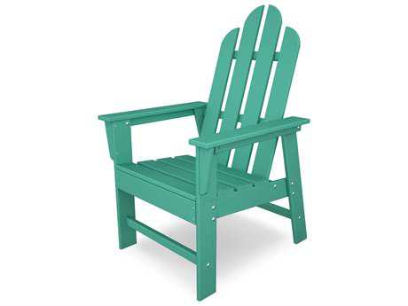 POLYWOOD® Long Island Recycled Plastic Adirondack Dining Arm Chair PatioLiving