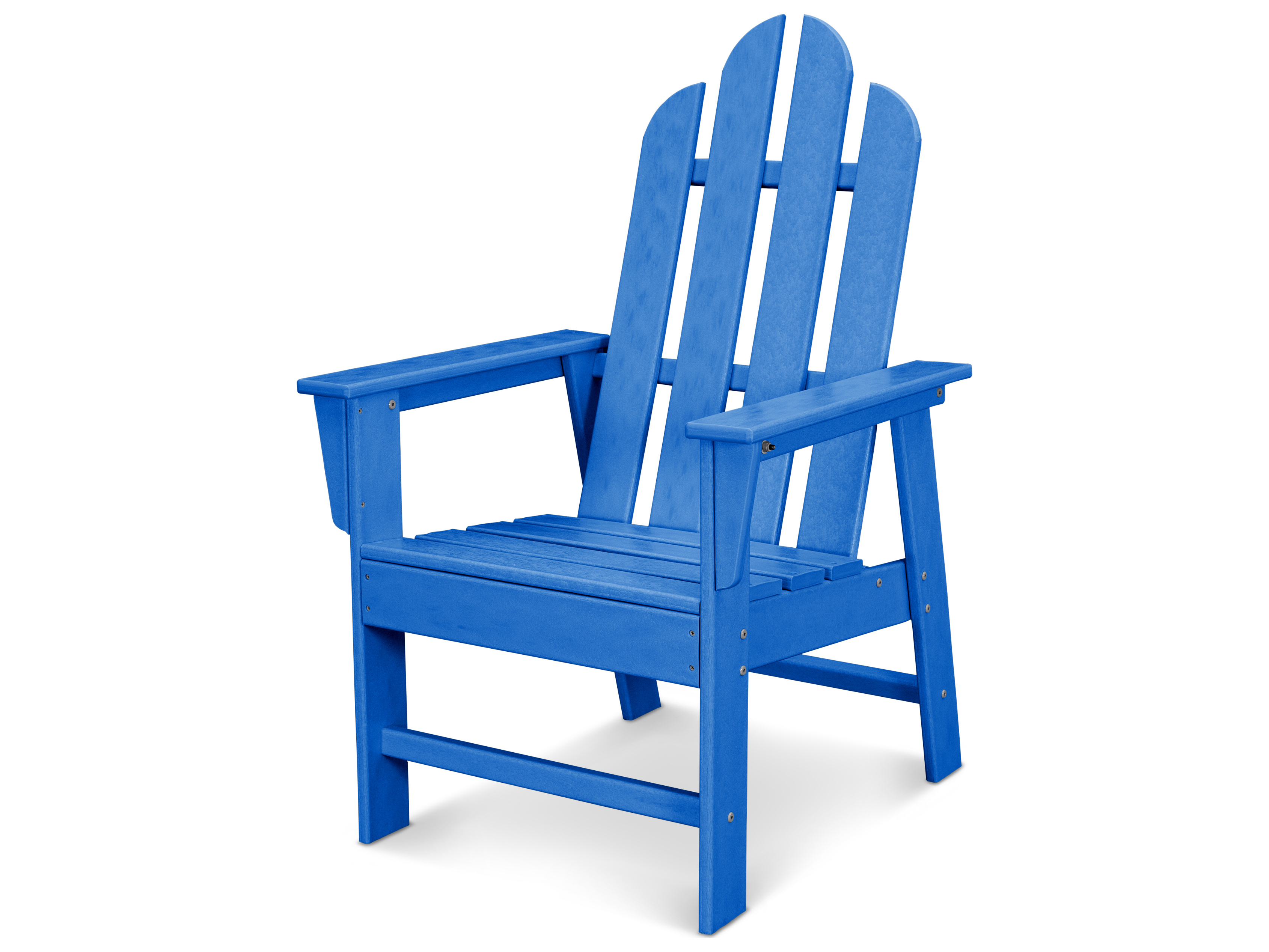 Polywood long island recycled plastic adirondack dining arm chair pwecd16 - Chaise adirondack plastique recycle costco ...