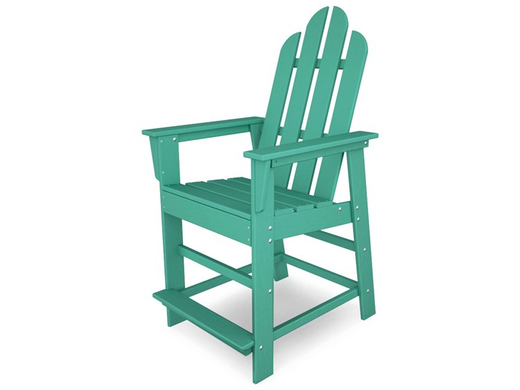POLYWOOD® Long Island Recycled Plastic Counter Chair