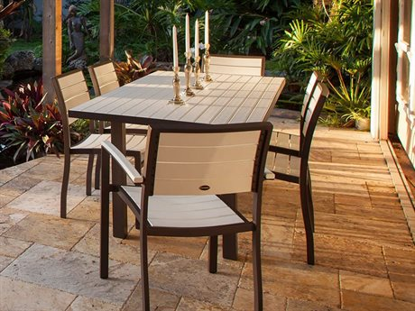 POLYWOOD® Euro Recycled Plastic Dining Set