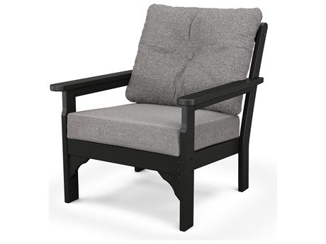 POLYWOOD Vineyard Deep Seating Chair in Mahogany / Cast Ash