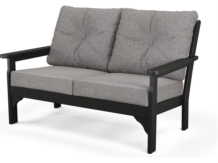POLYWOOD® Vineyrad Recycled Plastic Deep Seating Settee PatioLiving