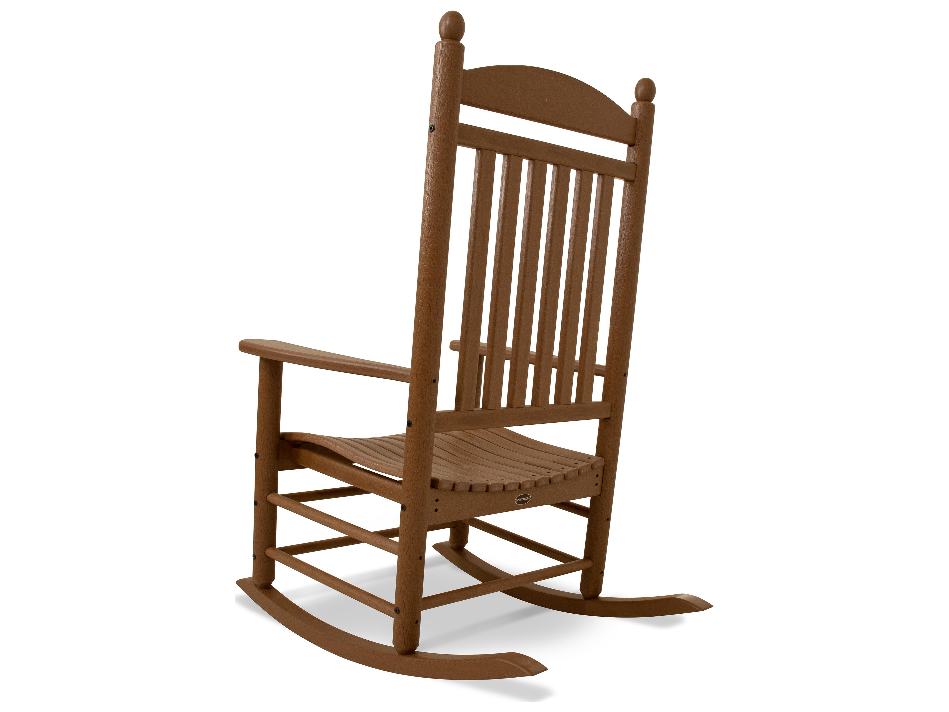 Polywood 174 Rocker Recycled Plastic Arm Lounge Chair Pwj147