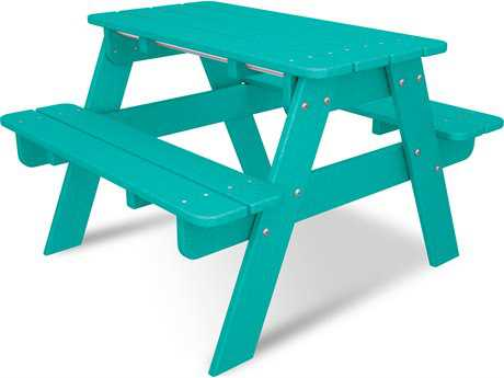 POLYWOOD® Kids Recycled Plastic 30''W x 21''D Rectangular Picnic Table PatioLiving
