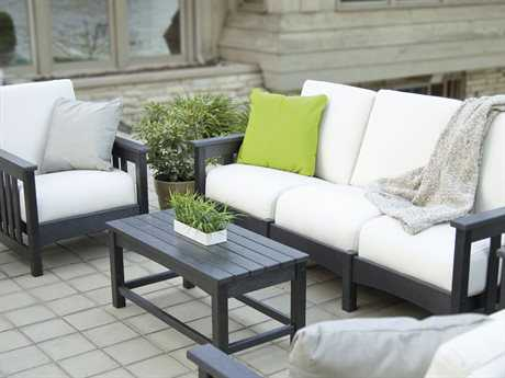 POLYWOOD® Mission Recycled Plastic Deep Seating Club Lounge Set PWMISSILNGESET
