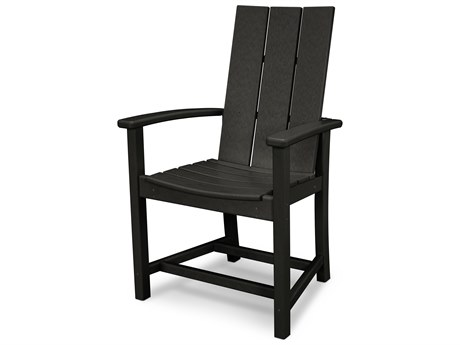 POLYWOOD® Modern Recycled Plastic Adirondack Dining Chair PatioLiving