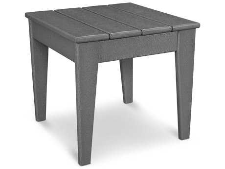 POLYWOOD® Modern Recycled Plastic 18''Wide Square End Table PatioLiving