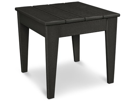 POLYWOOD® Modern Recycled Plastic 18'' Wide Square End Table