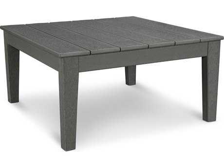 POLYWOOD® Modern Recycled Plastic 33.5 Square Conversation Table PatioLiving