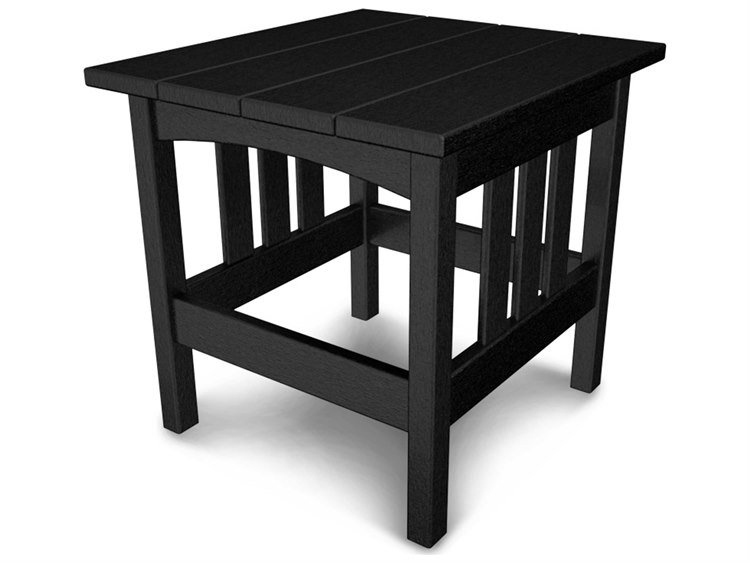 POLYWOOD® Mission Recycled Plastic 24 x 22 Rectangular Side Table
