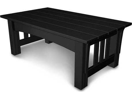 POLYWOOD® Mission Recycled Plastic 48''W x 28''D Rectangular Coffee Table