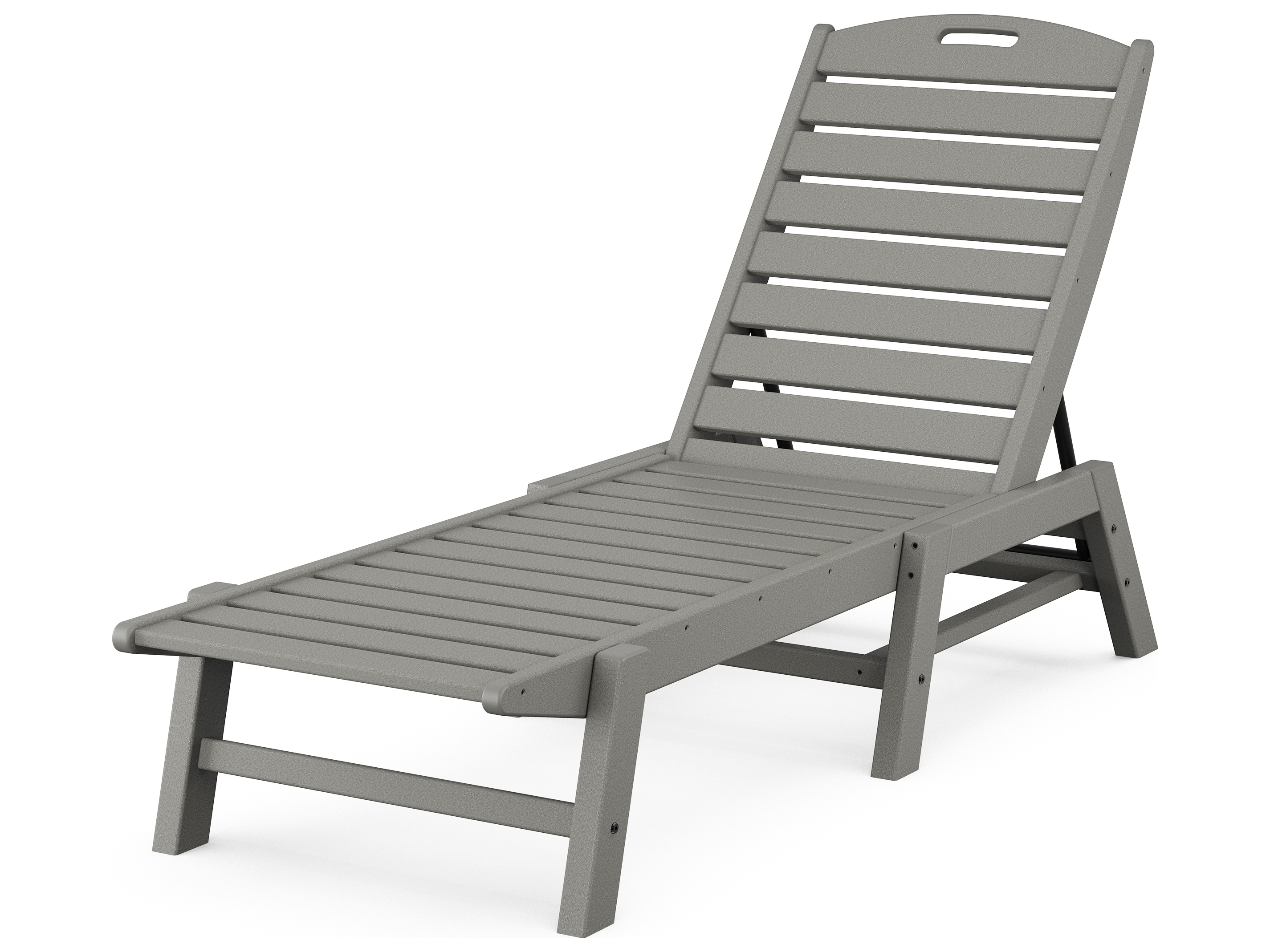 POLYWOOD Nautical Recycled Plastic Armless Stackable Chaise