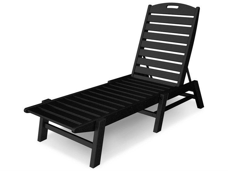 POLYWOOD® Nautical Recycled Plastic Armless Stackable Chaise