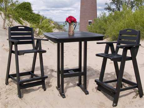 POLYWOOD® Nautical Recycled Plastic Bar Dining Set