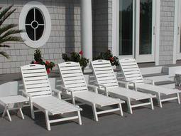 Nautical Recycled Plastic Chaise Lounge Set