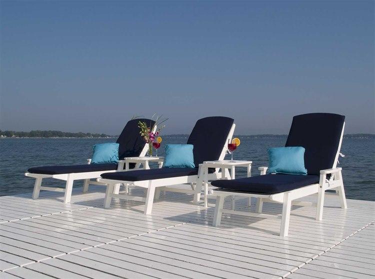 Polywood Nautical Chaise Lounge Set