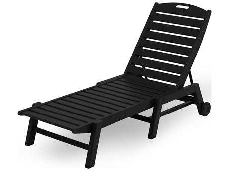 POLYWOOD® Nautical Recycled Plastic Stackable Chaise Lounge PatioLiving