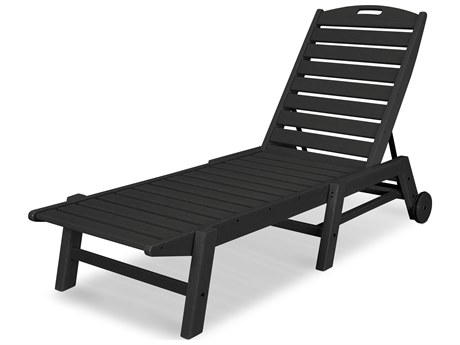 POLYWOOD® Nautical Recycled Plastic Stackable Chaise Lounge
