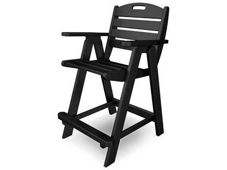 POLYWOOD® Nautical Recycled Plastic Counter Chair