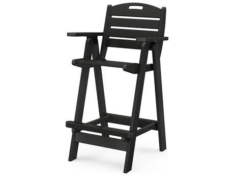 POLYWOOD® Nautical Recycled Plastic Bar Chair